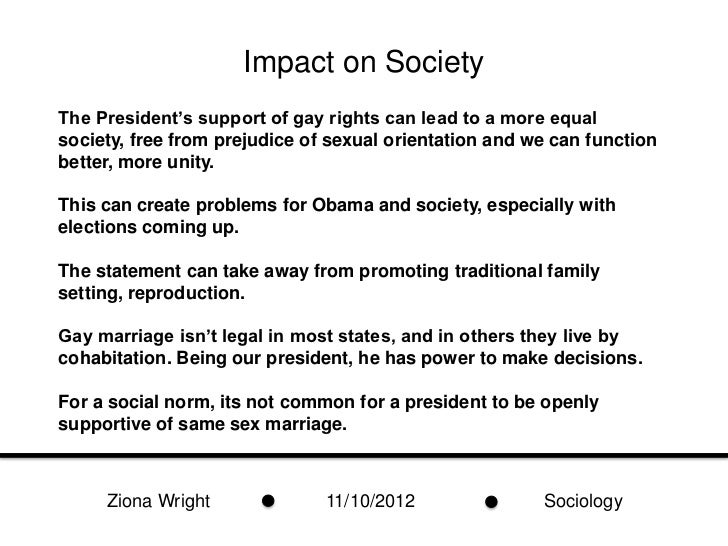Societal problems with homosexual marriage