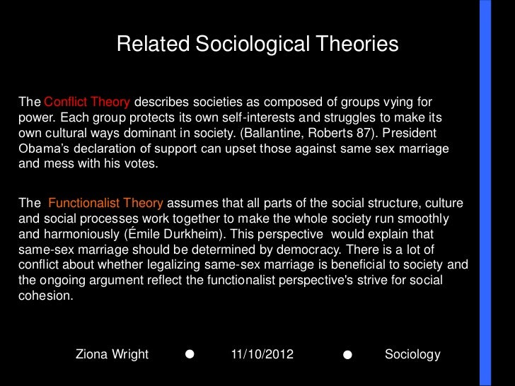 Sociology perspectives on same sex