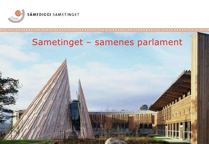 Sametinget – samenes parlament