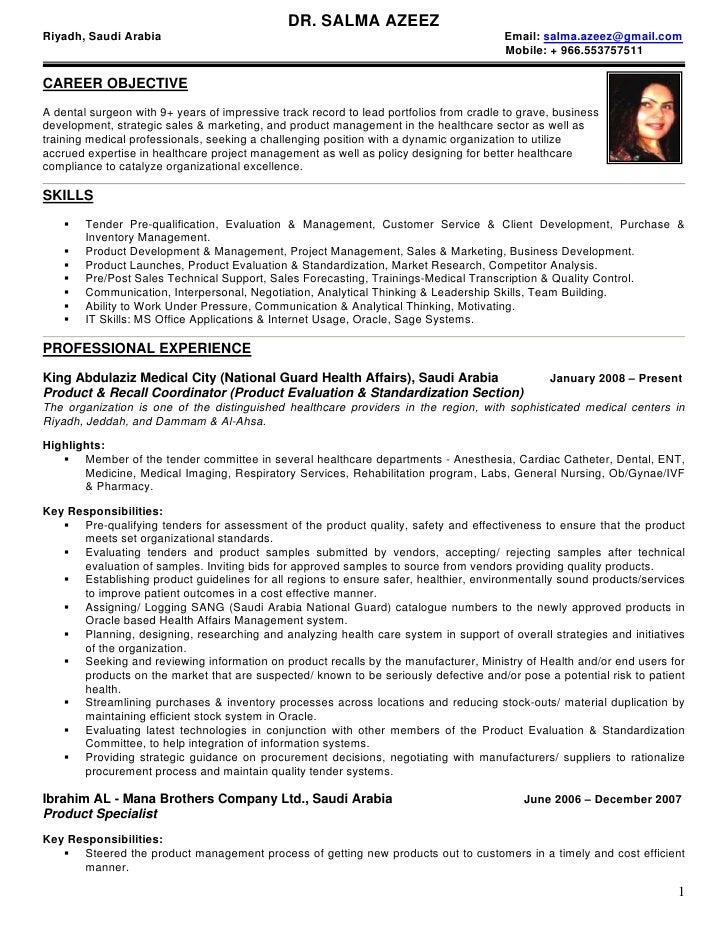 DR. SALMA AZEEZ Riyadh, Saudi Arabia                                                                    Email: salma.azeez...