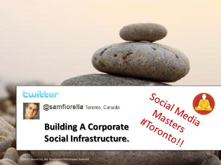 Building A Corporate                 Social Infrastructure.©2011 Sensei Inc. No Duplication Permission Granted