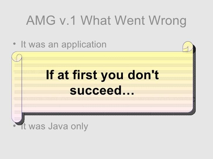 <ul><li>It was an application </li></ul><ul><li>Not as flexible as initially thought </li></ul><ul><li>Initial set of extr...