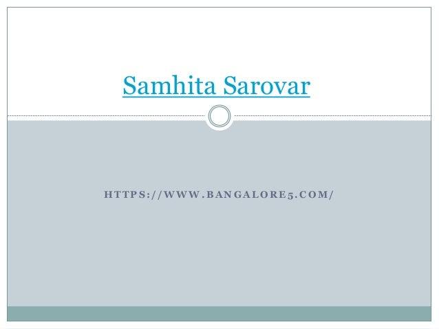 H T T P S : / / W W W . B A N G A L O R E 5 . C O M / Samhita Sarovar