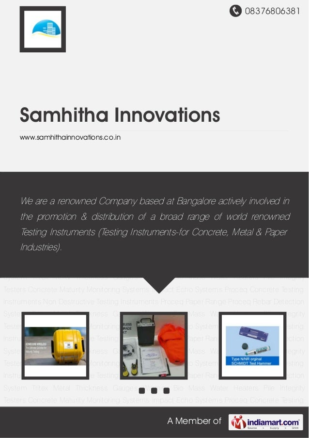 08376806381A Member ofSamhitha Innovationswww.samhithainnovations.co.inConcrete Maturity Monitoring Systems Impact Echo Sy...