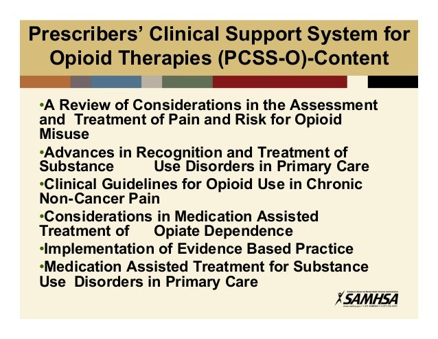 Samhs As Tools For Treatment