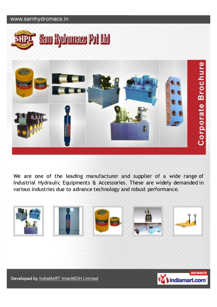 We are one of the leading manufacturer and supplier of a wide range ofIndustrial Hydraulic Equipments & Accessories. These...