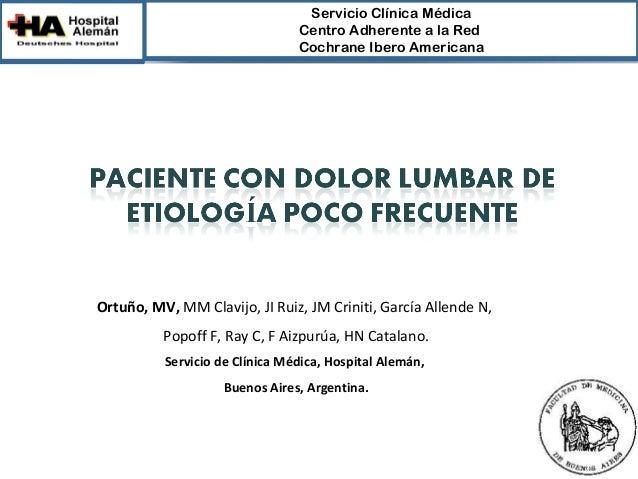 ServicioClínicaMédica                                CentroAdherentealaRed                                Cochrane...