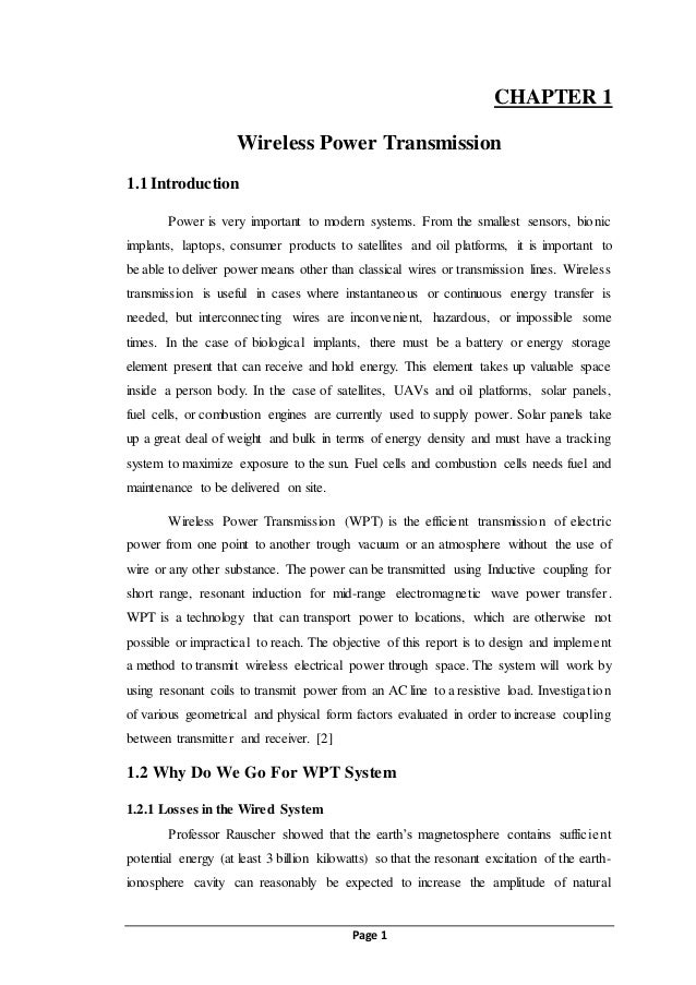 Wireless power transmission wpt Saminor report final