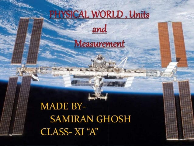 Physics Project On Physical World, Units and Measurement