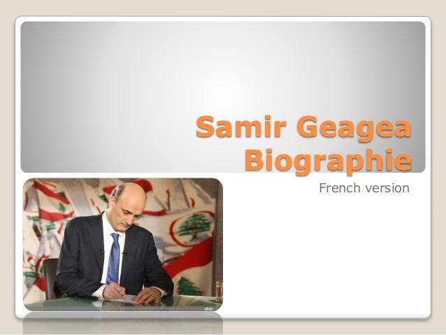 Samir Geagea Biographie French version