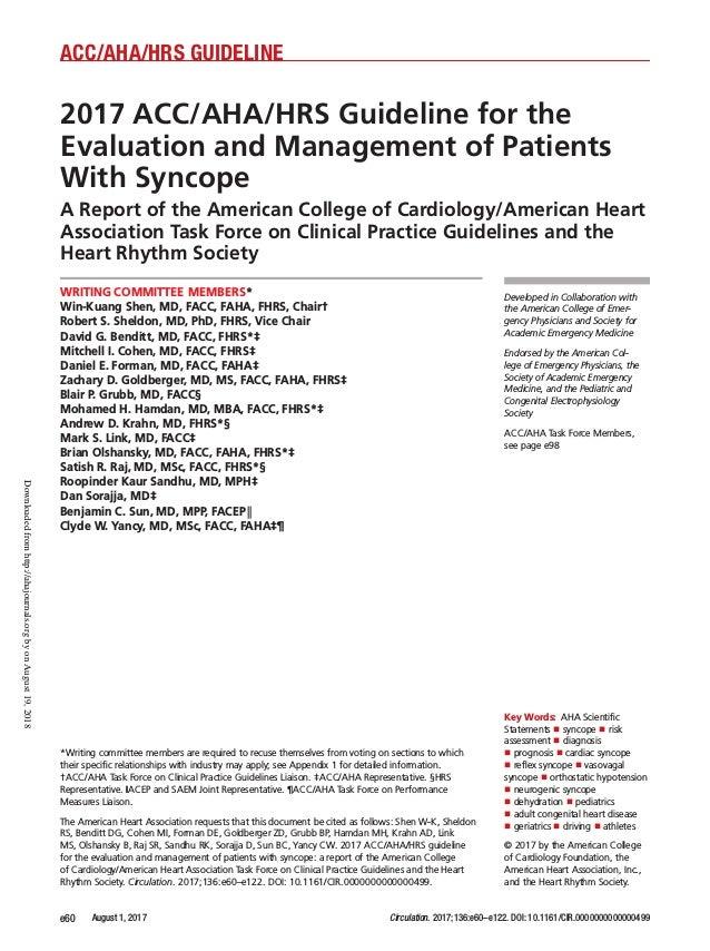 Samir Rafla 2017 Guidelines Evaluation And Management Of
