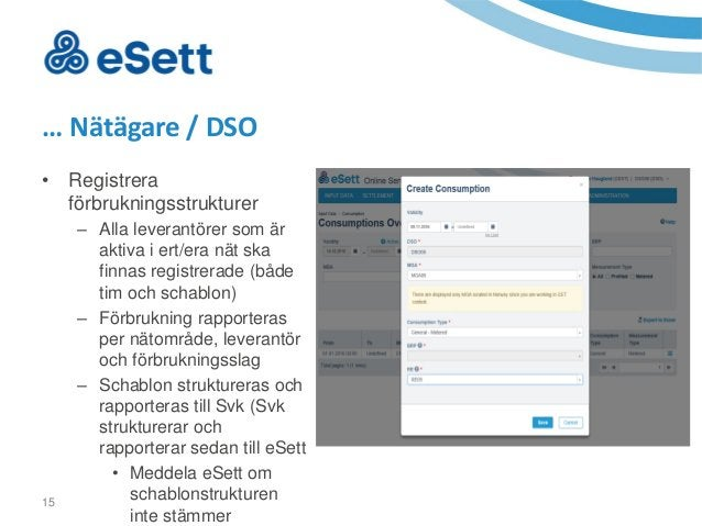 16 • Registrera produktionsanläggningar … Nätägare / DSO