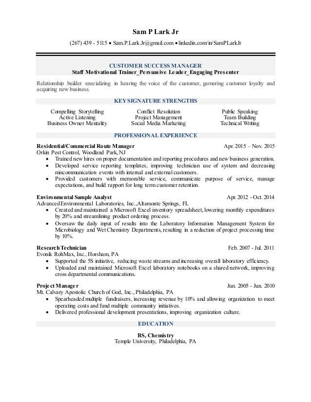 sam lark u0026 39 s sales  marketing resume