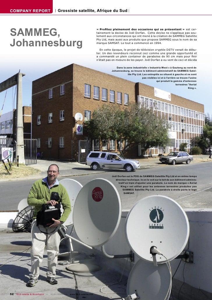 COMPANY REPORT                        Grossiste satellite, Afrique du Sud     SAMMEG,                                     ...