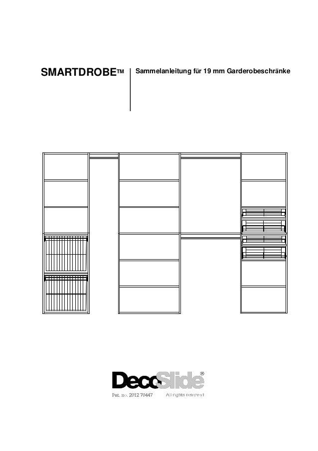 SMARTDROBETM Sammelanleitung für 19 mm Garderobeschränke