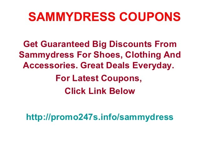 SammyDress has offered a sitewide coupon (good for all transactions) for 30 of the last 30 days. As coupon experts in business since , the best coupon we have seen at 100loli.tk was for 80% off in December of