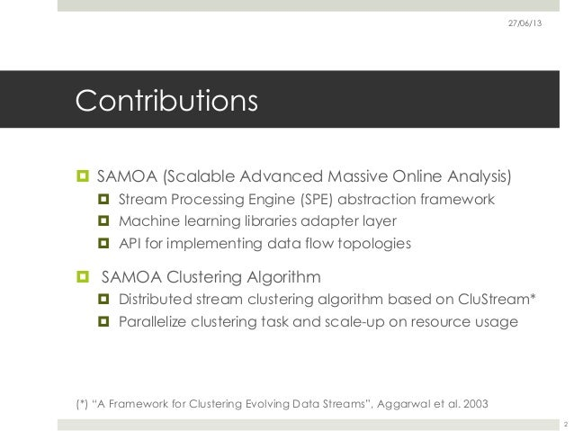 Scalable Distributed Real-Time Clustering for Big Data Streams Slide 2
