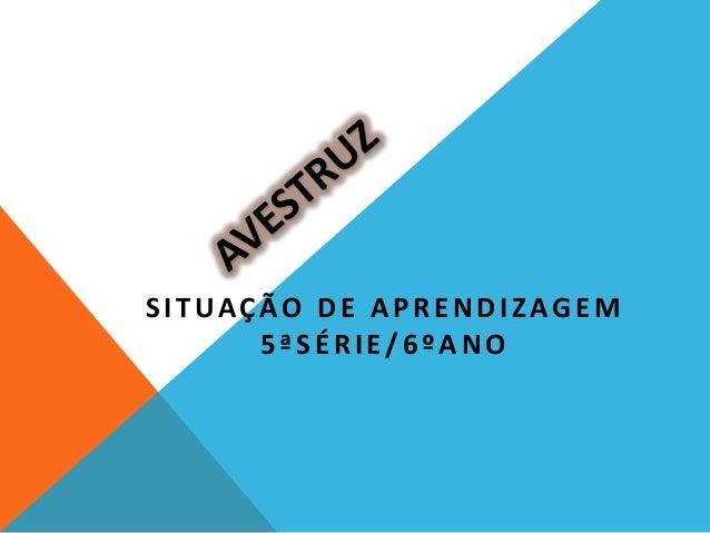 SITUAÇÃO DE APRENDIZAGEM5ªSÉRIE/6ºANO