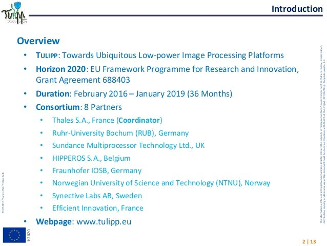 Samos July 2016_tulipp-H2020 project presentation Slide 2