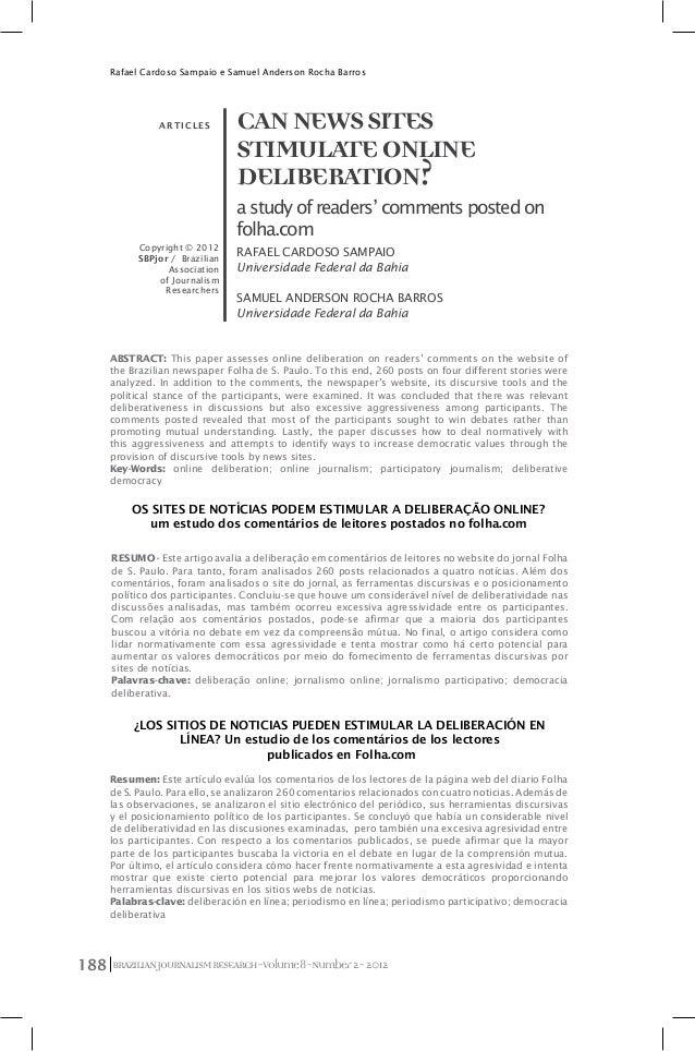 BRAZILIANJOURNALISMRESEARCH-Volume8-Number2-2012188 Rafael Cardoso Sampaio e Samuel Anderson Rocha Barros CANNEWSSITES STI...