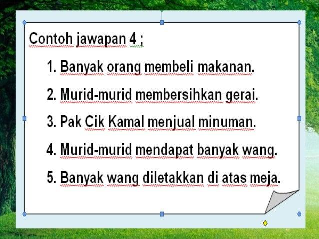 Sampel Jawapan UPSR Bahasa Melayu Penulisan