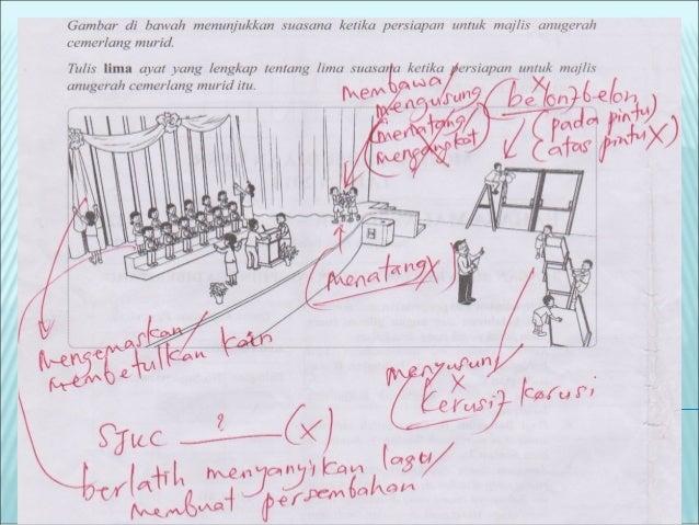 Sampel membina rangka jawapan murid #5