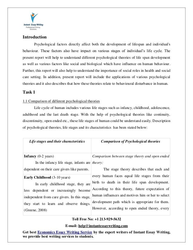 social psychology paper example