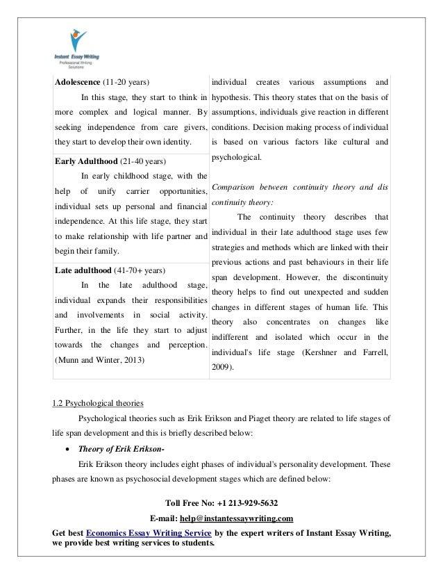 personal lifespan development paper