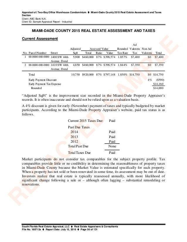 Sample Appraisal Report Industrial