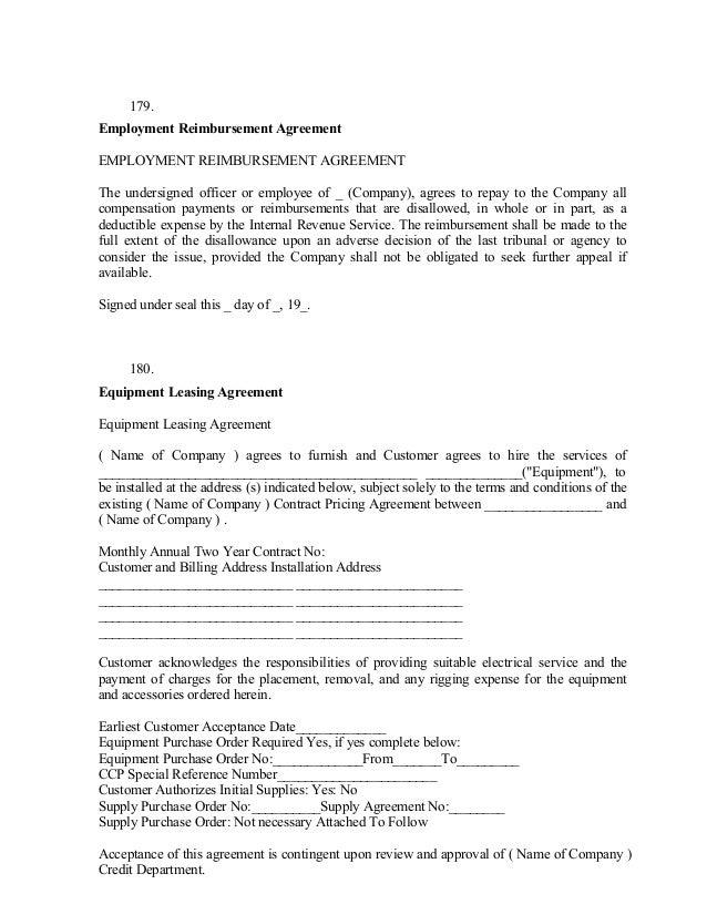 Sample Supply Agreement