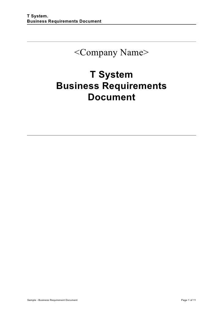 Sample business requirement document accmission Gallery