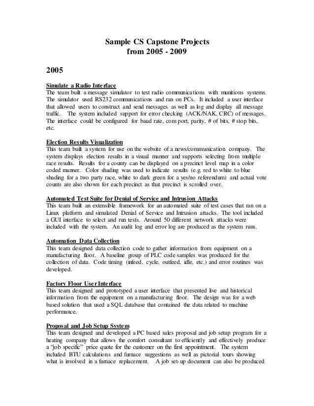 sei capstone project examples