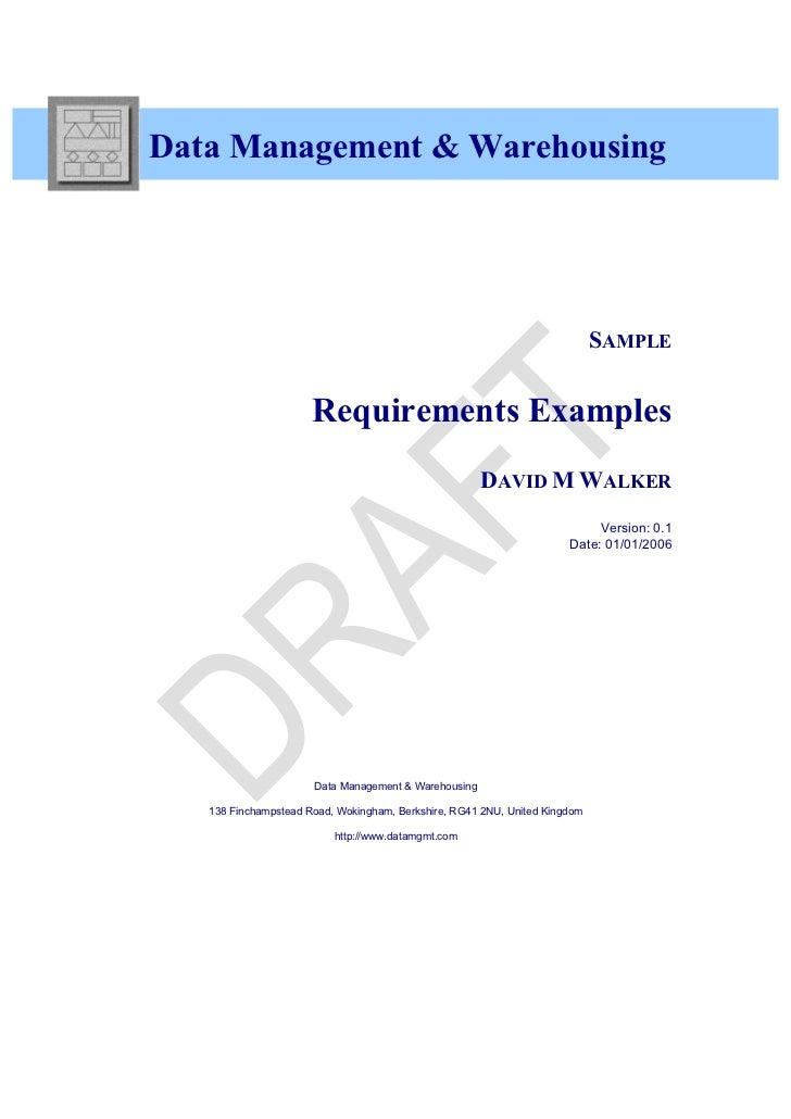 Data Management & Warehousing                                                                            SAMPLE           ...
