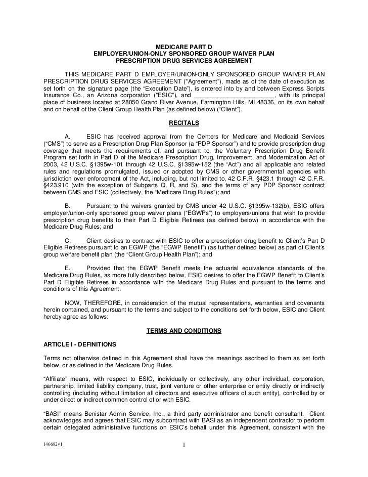 MEDICARE PART D                    EMPLOYER/UNION-ONLY SPONSORED GROUP WAIVER PLAN                         PRESCRIPTION DR...