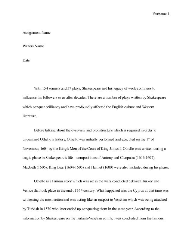 Essay On Photosynthesis  Essay About Science And Technology also Essay Examples English Othello Essay Thesis Essay Othello Thesis Statement About  Essay On Photosynthesis