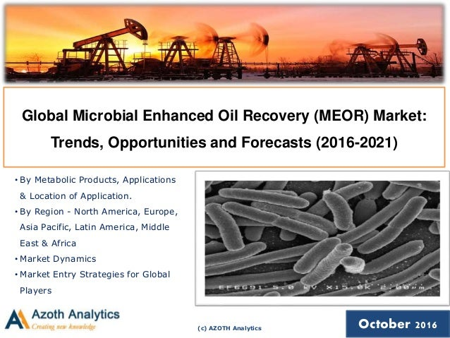 (c) AZOTH Analytics October 2016 Global Microbial Enhanced Oil Recovery (MEOR) Market: Trends, Opportunities and Forecasts...