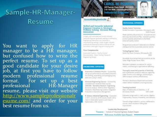 Sample HR-Manager-Resume