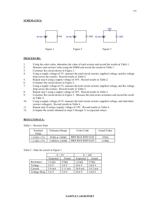 ohm law lab report A report and analysis of ohm's law and resistivity the purpose of this experiment was to gain an understanding of ohm's law.