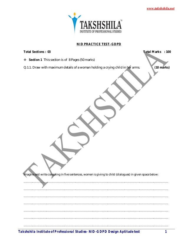 Nid Previous Year Question Paper Pdf