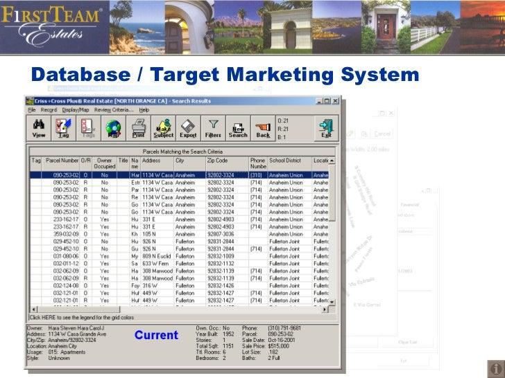 Database / Target Marketing System