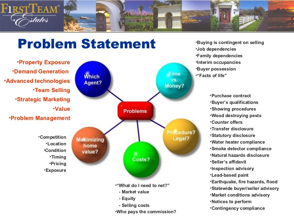 how to create a statement of the problem