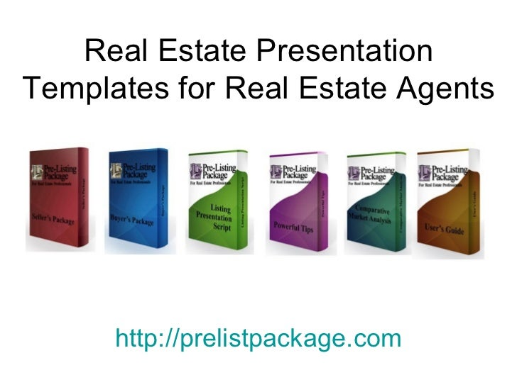 Real Estate Presentation Templates for Real Estate Agents http:// prelistpackage.com