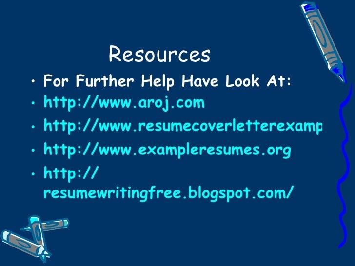 Sample Resume Writing