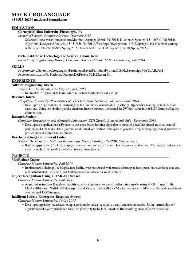 javascript matlab arduino 6 - Resume Computer Science 2015