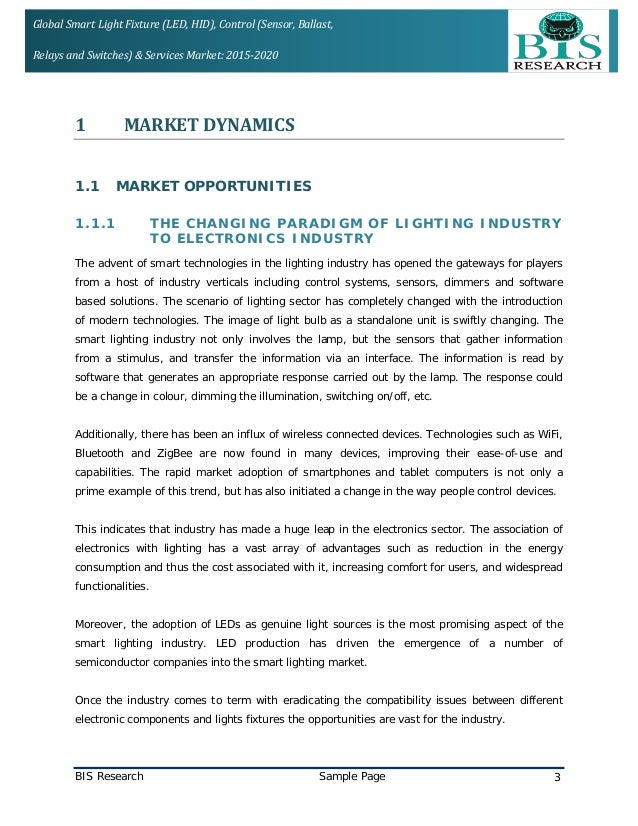 smart lighting & control market