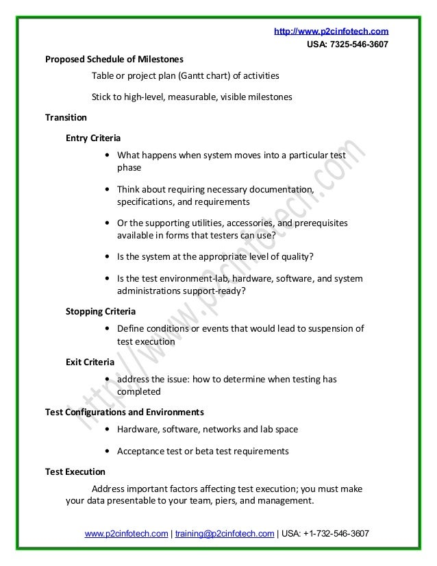 Sample test plan doc for Software testing schedule template