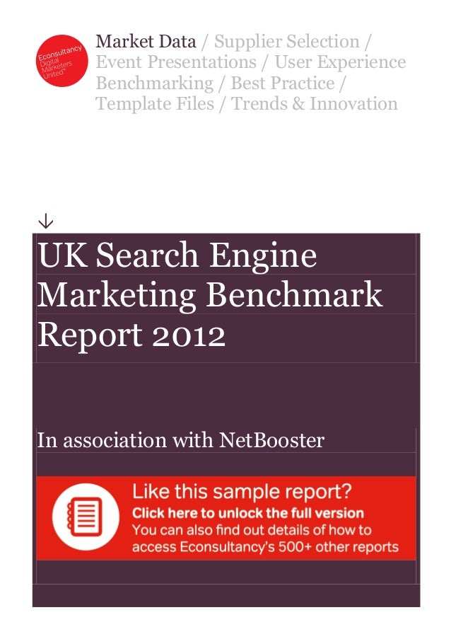 Market Data / Supplier Selection /      Event Presentations / User Experience      Benchmarking / Best Practice /      Tem...