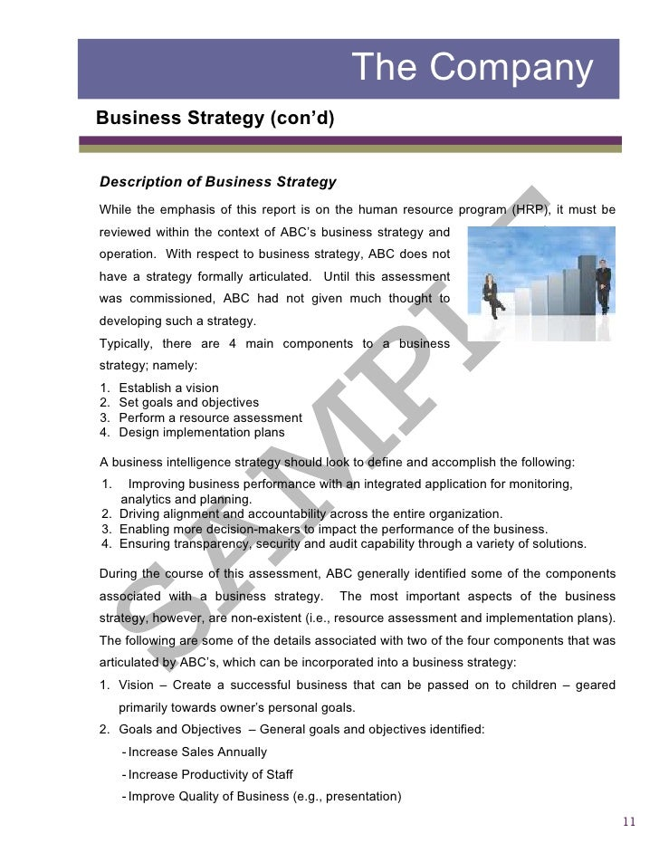 Sample2 report business assessment 10 11 the company business strategy flashek Gallery