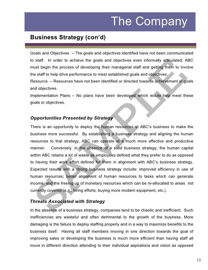 Sample2 Report Business Assessment