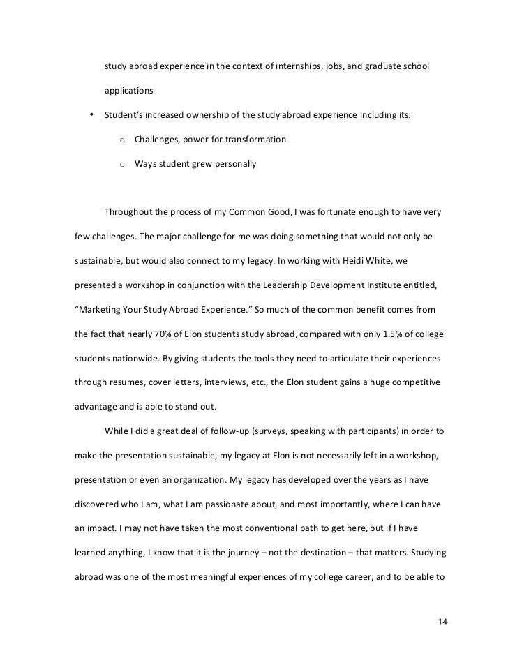 elon application essay